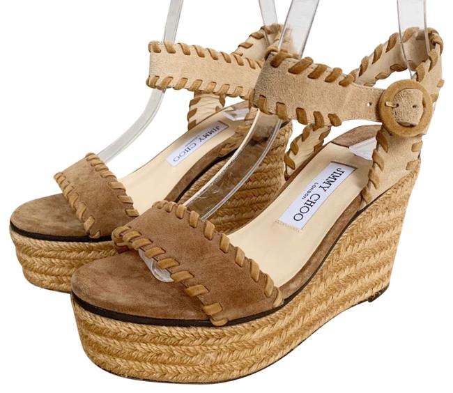 Item - Brown Abigail 100 Natural Mix Suede Chunky Wedges Size US 8.5 Regular (M, B)