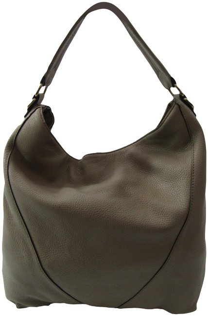 Item - Pebbled Handbag Gray Leather Shoulder Bag