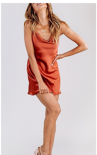 Item - Rust Brown Red Slip Short Cocktail Dress Size 0 (XS)