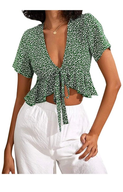 Item - Green and White Top