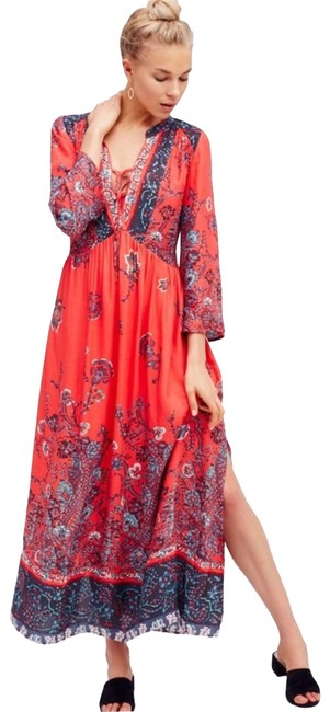 Item - Red If You Only Knew Boho Casual Maxi Dress Size 2 (XS)