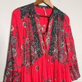 Free People Red If You Only Knew Boho Casual Maxi Dress Size 2 (XS) Free People Red If You Only Knew Boho Casual Maxi Dress Size 2 (XS) Image 4