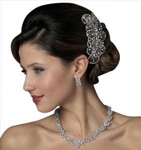 Elegance By Carbonneau Vintage Look Rhinestone Wedding Hair Comb