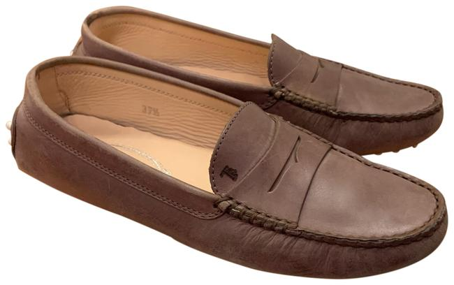 Item - Brown Leather Gommini Driving Loafers Flats Size EU 37.5 (Approx. US 7.5) Regular (M, B)