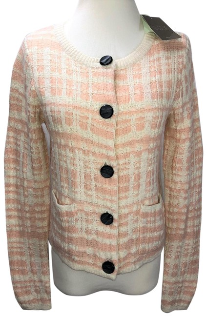 Item - Peach Off-white Knitted & Knotted Cream / Jacket Cardigan Size 2 (XS)