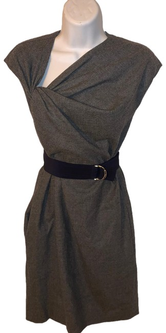 Item - Gray Lambswool/Cashmere Blend Sheath Short Work/Office Dress Size OS (one size)