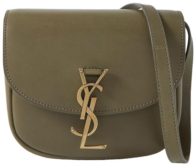 Item - Kaia Small Army Green Leather Shoulder Bag