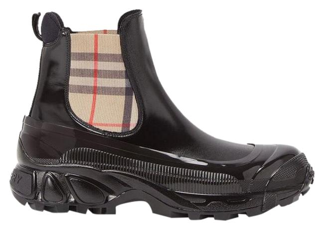 Item - Black Check Chelsea Boots/Booties Size EU 37 (Approx. US 7) Regular (M, B)