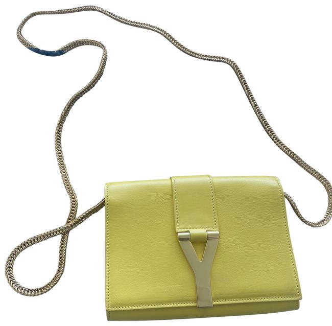 Item - Ysl with Chain Yellow Lambskin Leather Cross Body Bag