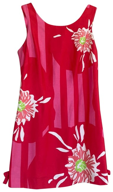 Item - Pink/Red 96673 Short Casual Dress Size 6 (S)
