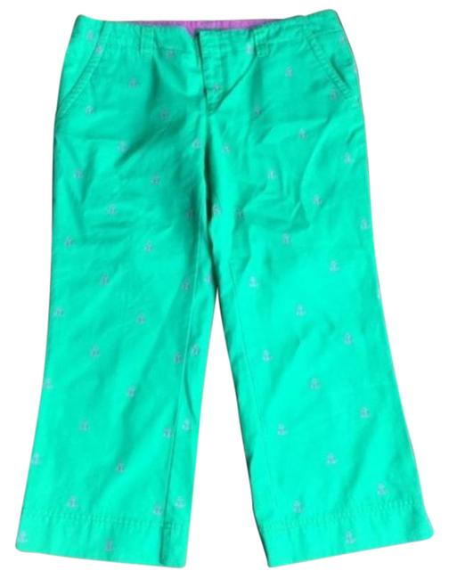 Item - Green Pink Palm Beach Pants Size 6 (S, 28)