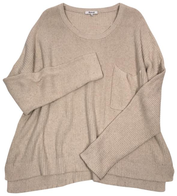 Item - Scoop Neck Sleeve Knitted Xxl Plus Size Cream Sweater