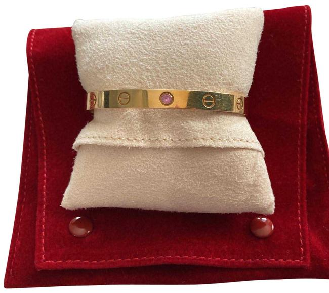 Item - Rose Gold with Pink Sapphire Love Cuff Bracelet
