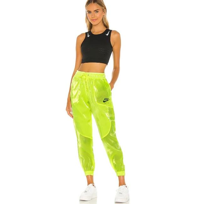 Item - Neon Green Sheen Air In Volt & Black Joggers Activewear Bottoms Size 4 (S)