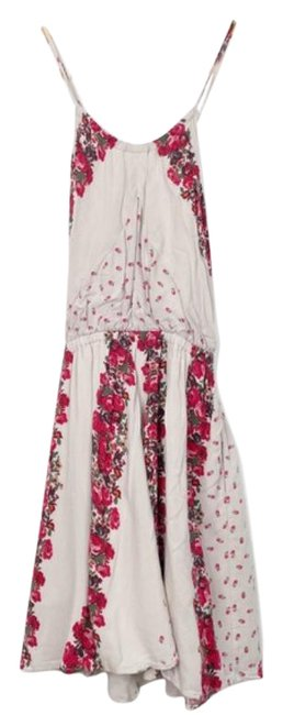 Item - Red XS Floral Cross Back Mini Short Casual Dress Size 0 (XS)