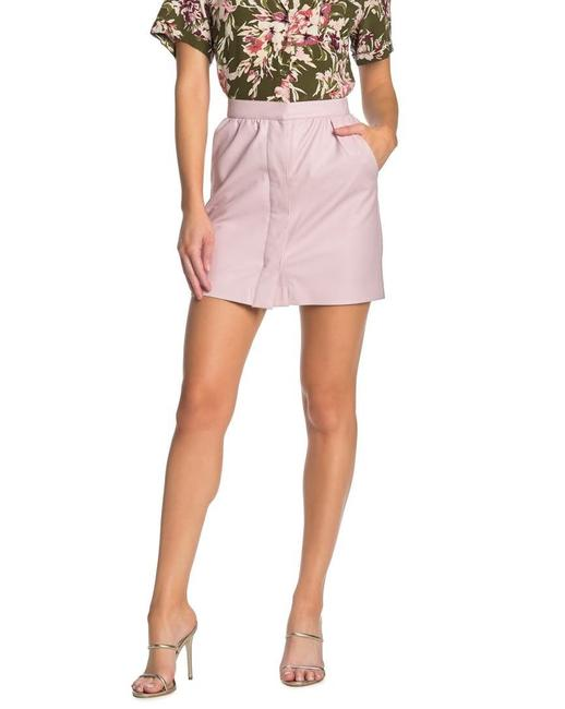 Item - Pink Bia Faux Leather Cashmere Blush Skirt Size 0 (XS, 25)