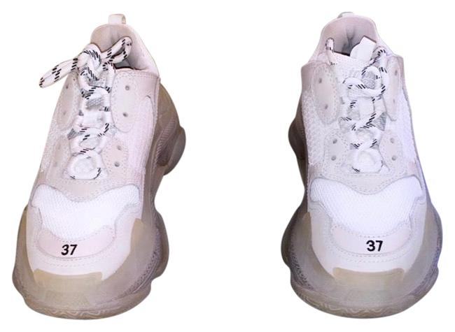 Item - Soft White Triple S Clear Sole Sneakers Size EU 37 (Approx. US 7) Regular (M, B)