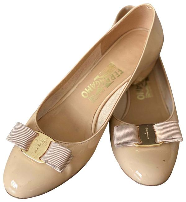 Item - Nude Vara Bow Pump Wedges Size US 7 Regular (M, B)