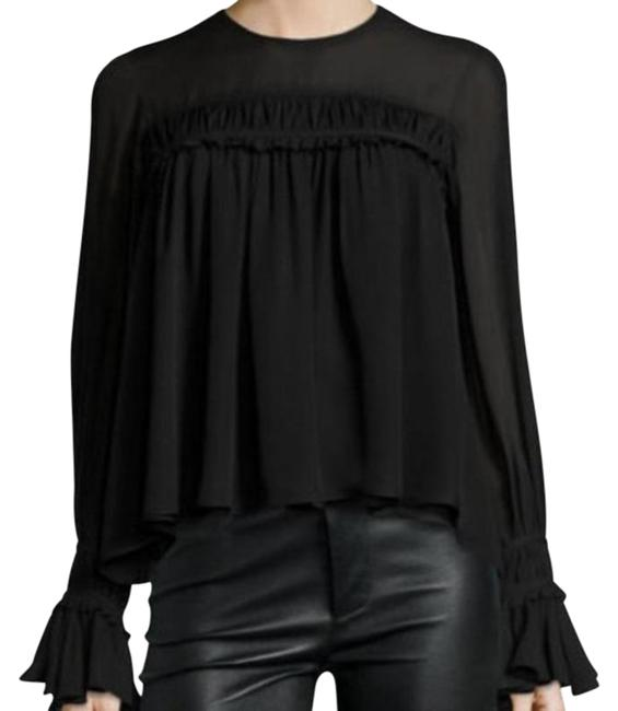 Item - Black Monarch Long Sleeve Silk S Blouse Size 4 (S)