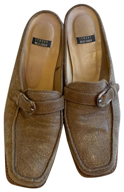 Item - Golden Brown Mules/Slides Size US 8 Regular (M, B)