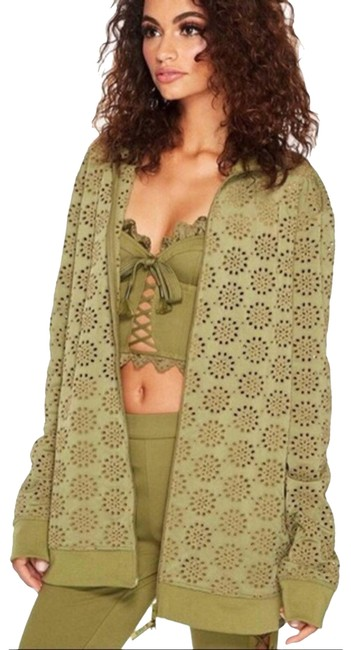 Item - Green Embroidered Edge Jacket Size 4 (S)