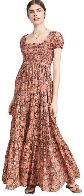 Item - Red Getaway Floral Tiered Long Casual Maxi Dress Size 12 (L)