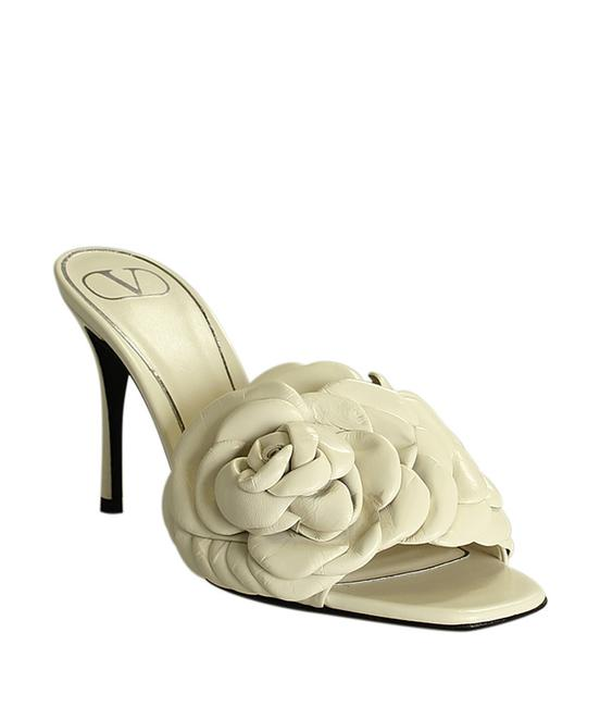 Item - Cream Atelier Leather 196647 Sandals Size EU 37 (Approx. US 7) Narrow (Aa, N)