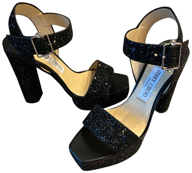 Item - Black Maie Glitter Sandals Platforms Size EU 39 (Approx. US 9) Regular (M, B)