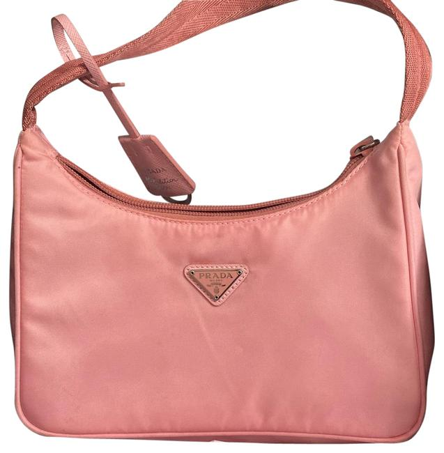 Item - Mini Re-edition 2000 Pink Saffiano Leather and Nylon Shoulder Bag