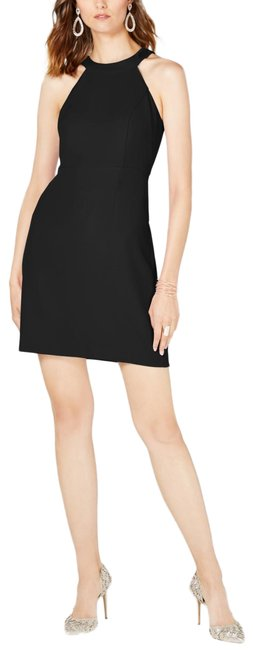 Item - Black Halter Shift Short Cocktail Dress Size 16 (XL, Plus 0x)
