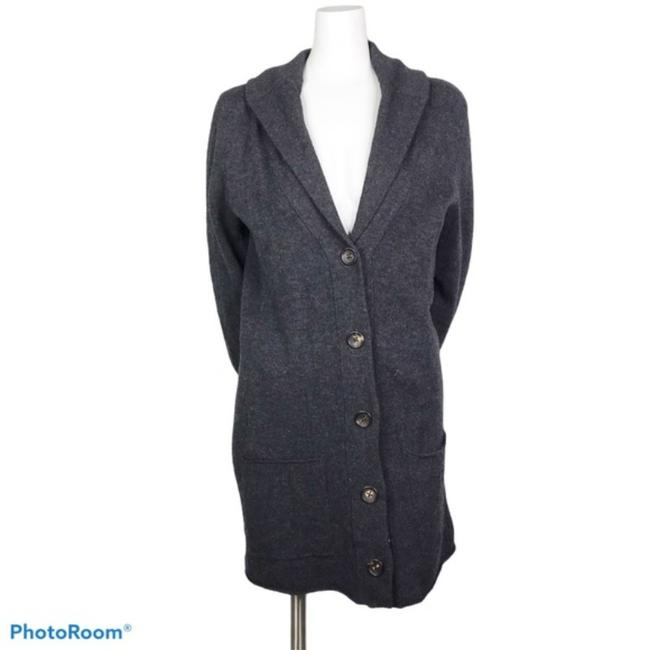 Item - Gray Button Front Cardigan Size 8 (M)