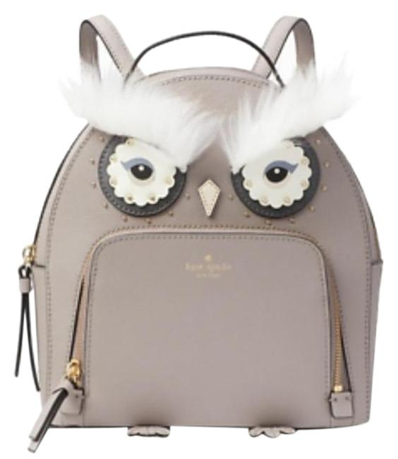 Item - Owl Tomi Cityscape Gray Leather Backpack