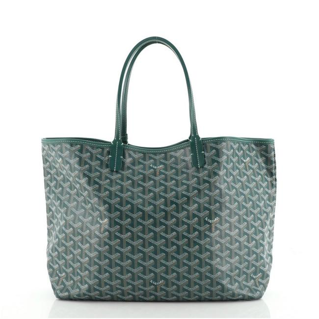 Item - Saint Louis Pm Green Coated Canvas Tote