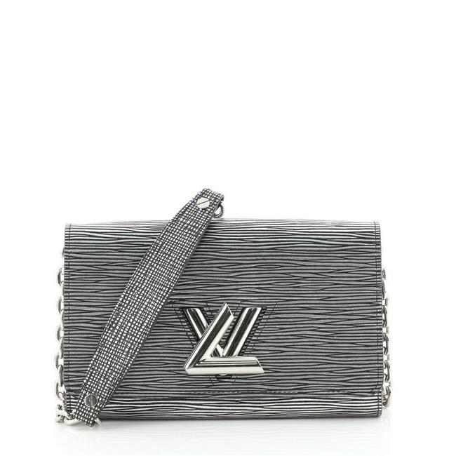 Item - Twist Chain Wallet Epi Silver Leather Cross Body Bag