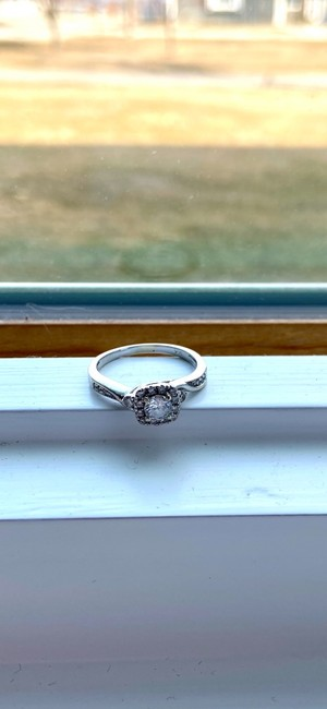 Kay Jewelers Silver Cute Engagement Ring Kay Jewelers Silver Cute Engagement Ring Image 2