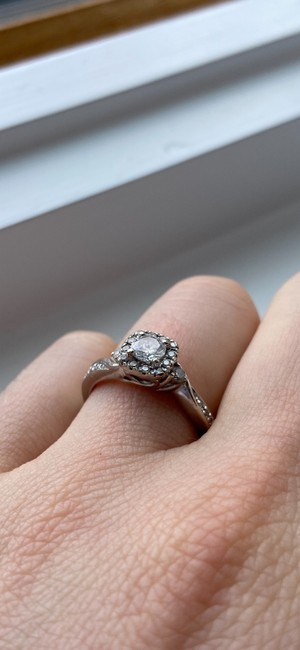 Kay Jewelers Silver Cute Engagement Ring Kay Jewelers Silver Cute Engagement Ring Image 4