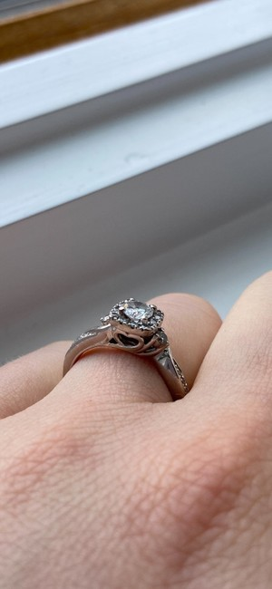 Kay Jewelers Silver Cute Engagement Ring Kay Jewelers Silver Cute Engagement Ring Image 5