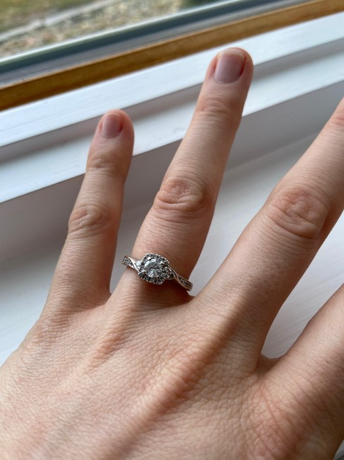 Kay Jewelers Silver Cute Engagement Ring Kay Jewelers Silver Cute Engagement Ring Image 6