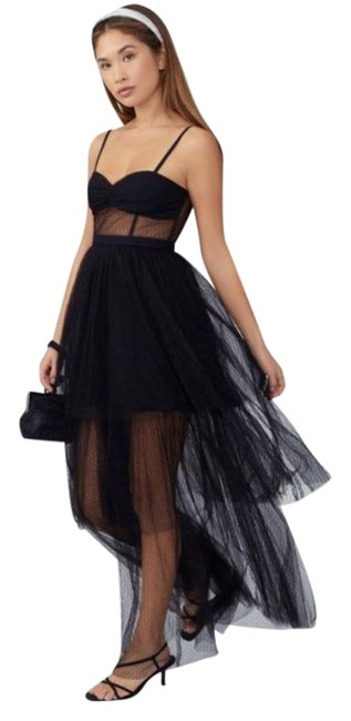 Item - Black Corset Tiered Gown Long Formal Dress Size 6 (S)