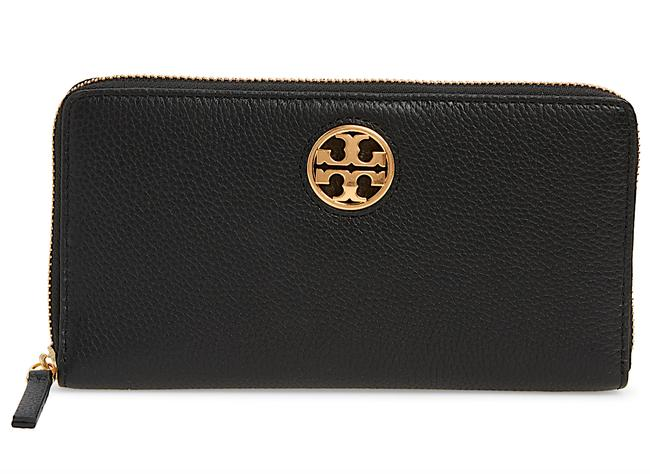 Item - Black with Tag Carson Zip Leather Continental Wallet
