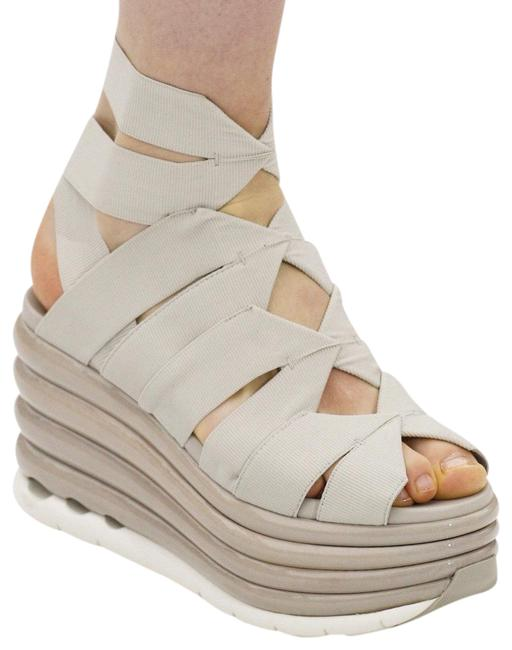 Item - Beige Runway Bandage Platform Wedge 37 Sandals Size US 7 Regular (M, B)