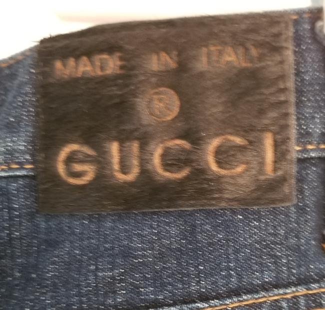 """Gucci Blue Distressed Guccimia Patch 32"""" Waist X 33"""" Inseam Relaxed Fit Jeans Size 32 (8, M) Gucci Blue Distressed Guccimia Patch 32"""" Waist X 33"""" Inseam Relaxed Fit Jeans Size 32 (8, M) Image 4"""