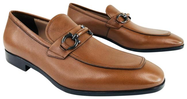 Item - Brown Benford Gancini Bit Leather Loafers E Formal Shoes Size US 9.5 Regular (M, B)
