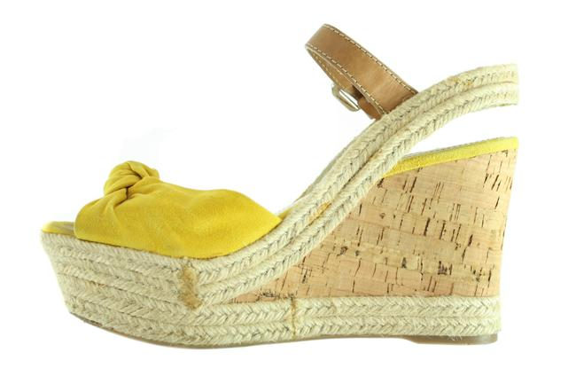 Item - Yellow With Open Toe Wedges Size EU 38 (Approx. US 8) Regular (M, B)