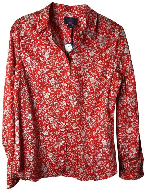 Item - Red Liberty Au235 Button-down Top Size 4 (S)