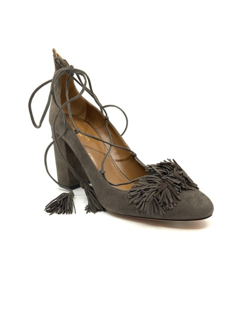 Item - Dark Taupe Suede Lace Up Wild Pumps Size US 9.5 Regular (M, B)