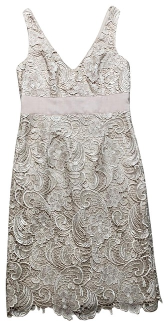 Item - Champagne Beige Na Mid-length Cocktail Dress Size 8 (M)