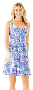 Lilly Pulitzer short dress Blue and Pink Summer Party Beach on Tradesy