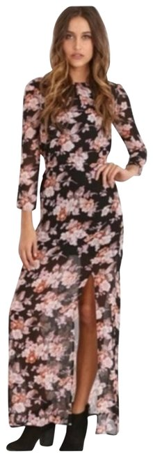 Item - Pink Autumn Maxi Small Night Out Dress Size 4 (S)