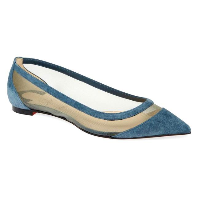 Item - Blue New Galativi Mesh Suede Leather Flats Size EU 41 (Approx. US 11) Regular (M, B)